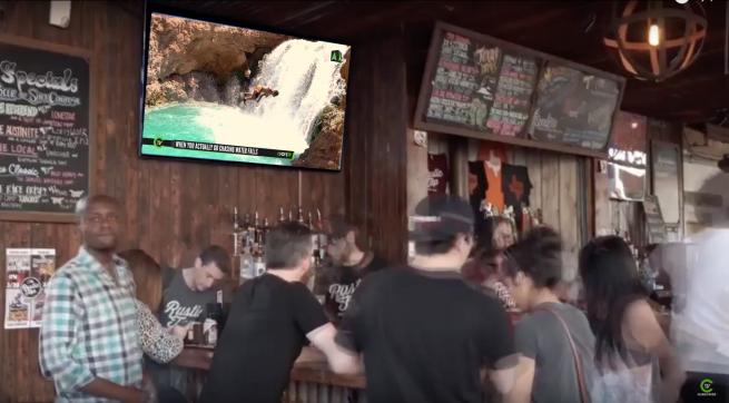 Atmosphere DOOH screens. ChiveTV. Digital signage