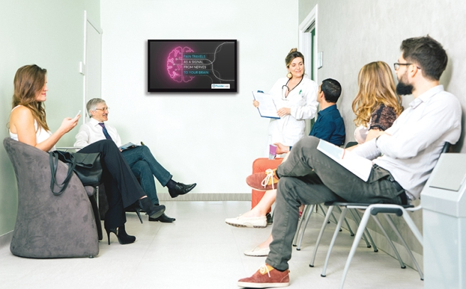 PatientPoint DOOH network. Doctor's Waiting Room Screens
